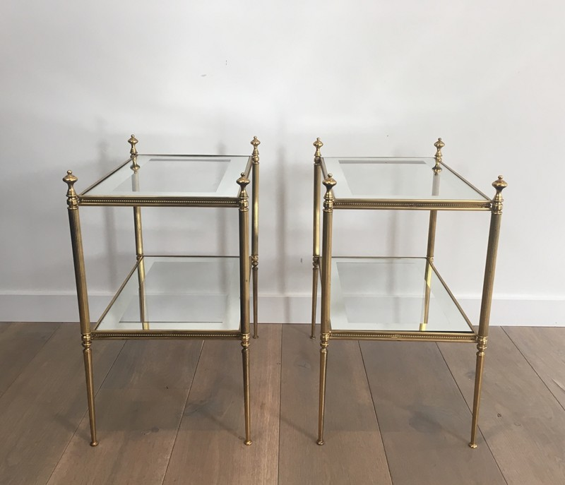Pair of Brass Side Tables with Clear Glass-barrois-antiques-50's-26801-main-636594052658601606.JPG
