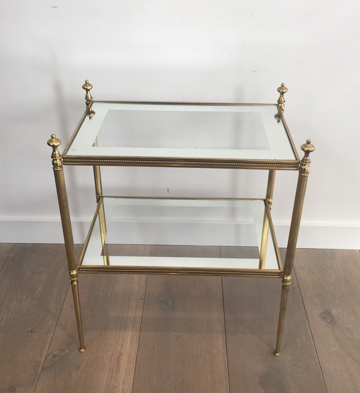 Pair of Brass Side Tables with Clear Glass-barrois-antiques-50's-26802-main-636594053240355438.JPG