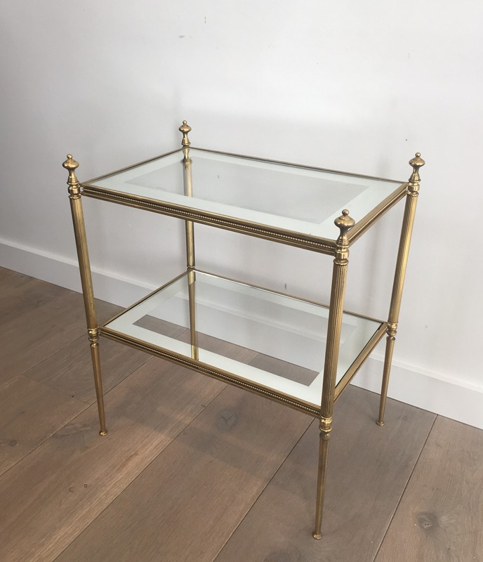 Pair of Brass Side Tables with Clear Glass-barrois-antiques-50's-26803-main-636594053264068654.JPG