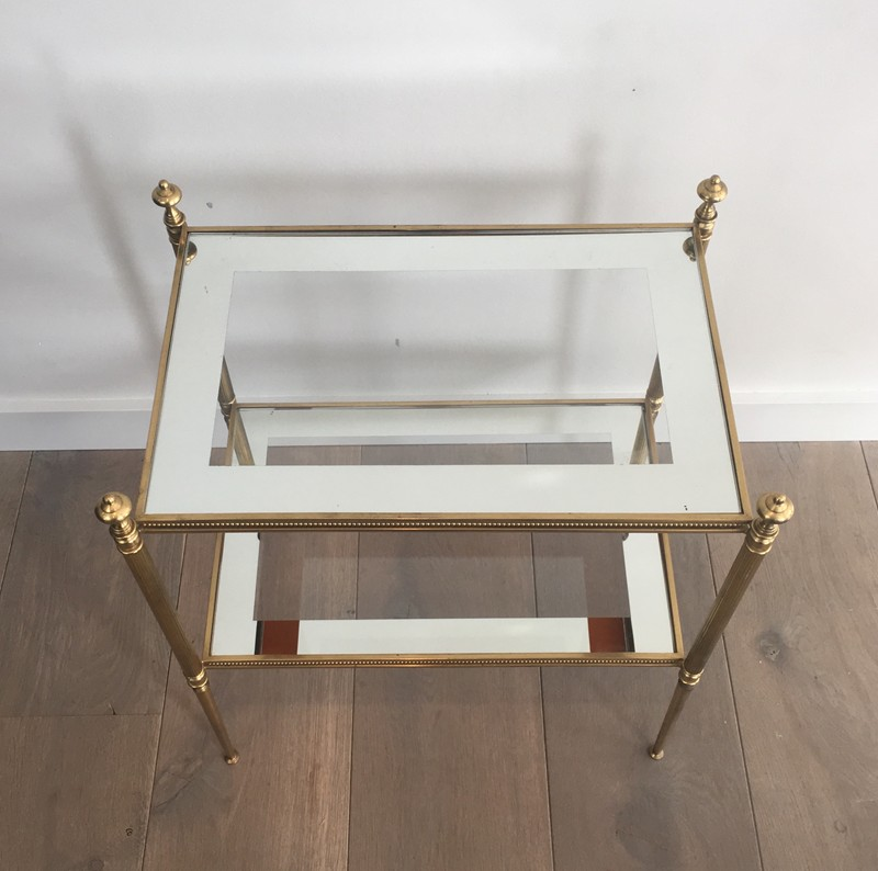 Pair of Brass Side Tables with Clear Glass-barrois-antiques-50's-26807-main-636594053508845206.JPG