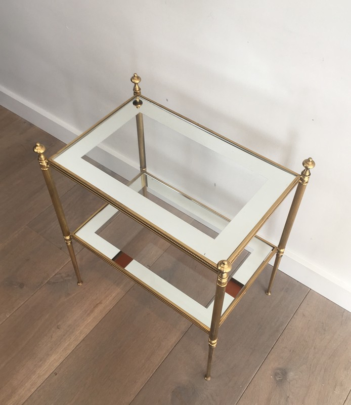 Pair of Brass Side Tables with Clear Glass-barrois-antiques-50's-26808-main-636594053532714430.JPG