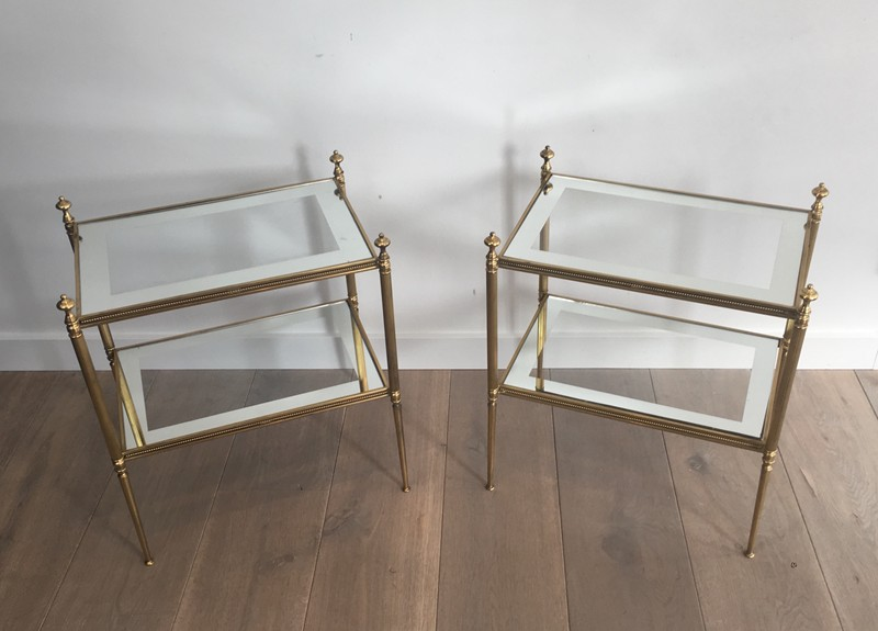 Pair of Brass Side Tables with Clear Glass-barrois-antiques-50's-26811-main-636594053724448262.JPG