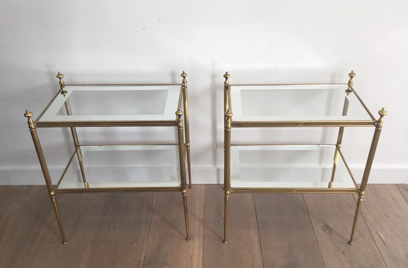 Pair of Brass Side Tables with Clear Glass-barrois-antiques-50's-26812-main-636594053746601398.JPG