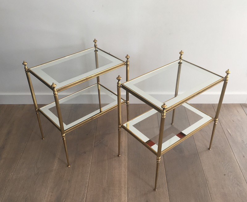 Pair of Brass Side Tables with Clear Glass-barrois-antiques-50's-26813-main-636594053771718686.JPG