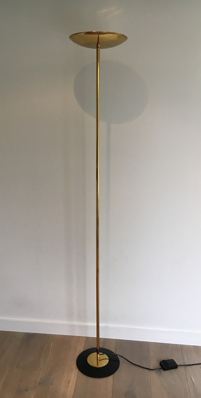 Brass and Black Lacquered Floor Lamp. Circa 1970 -barrois-antiques-50's-27209-main-636607798664449478.JPG