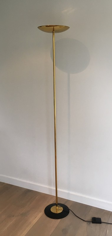 Brass and Black Lacquered Floor Lamp. Circa 1970 -barrois-antiques-50's-27210-main-636607806725849836.JPG