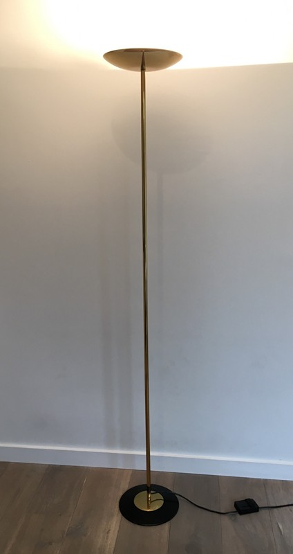 Brass and Black Lacquered Floor Lamp. Circa 1970 -barrois-antiques-50's-27212-main-636607807594190364.JPG