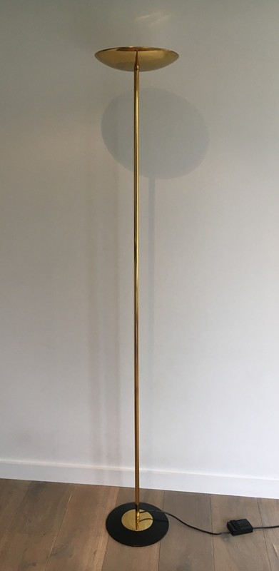 Brass and Black Lacquered Floor Lamp. Circa 1970 -barrois-antiques-50's-27216-main-636607808499348780.JPG