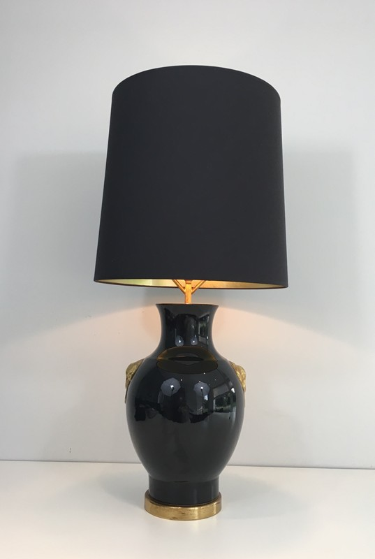 Black and Gold Ceramic Table Lamp-barrois-antiques-50's-27321-main-636608185640273397.JPG
