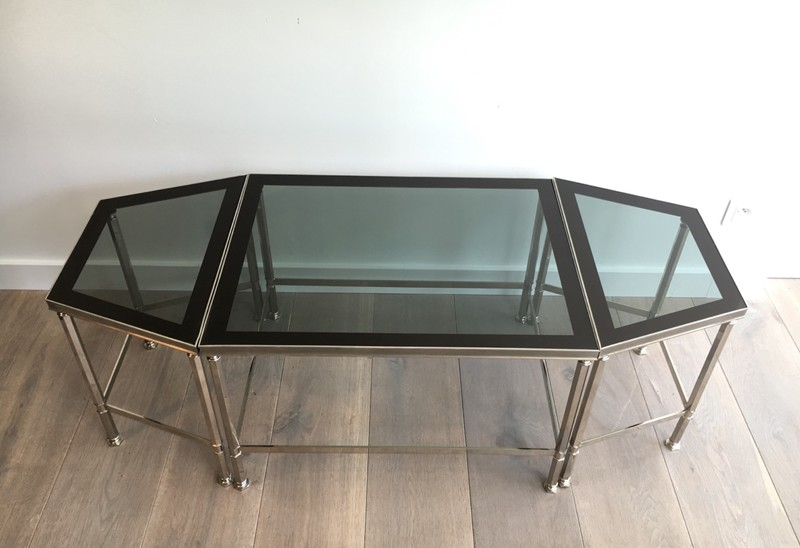 Rare Nickeled Tripartie Coffee Table. Circa 1940-barrois-antiques-50's-27378-main-636613116122390551.JPG