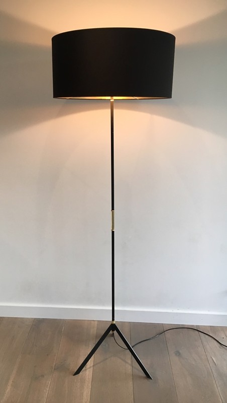 Modernist Black Lacquered and brass Floor Lamp. -barrois-antiques-50's-27529-main-636616349217308673.jpg