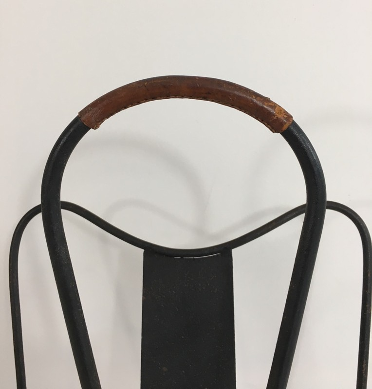 Black Lacquered and Brown Leather Magazine Rack-barrois-antiques-50's-27877-main-636626832461161312.JPG