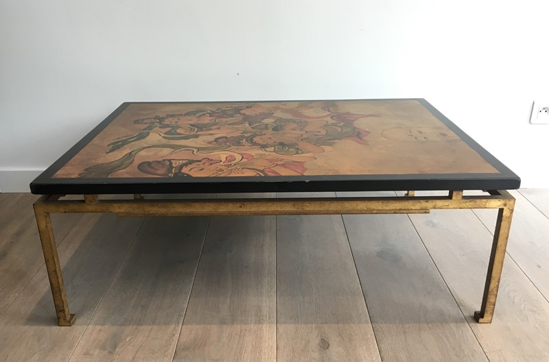 Amazing Coffee Table with Lacquered -barrois-antiques-50's-28040-main-636631780376415989.JPG