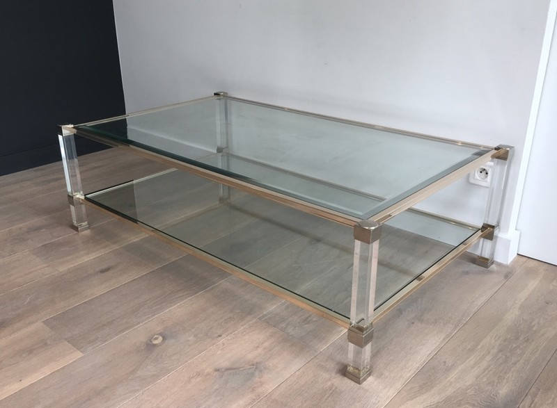 Large Acrylic and chrome Coffee Table. French.-barrois-antiques-50's-28411-main-636644871540063102.JPG