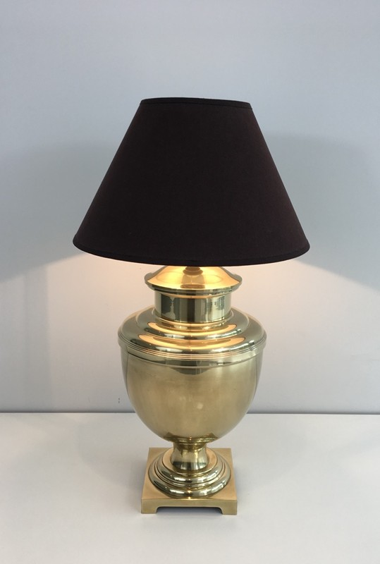 Brass Baluster Table Lamp. Circa 1970 -barrois-antiques-50's-28426-main-636646808785406177.JPG