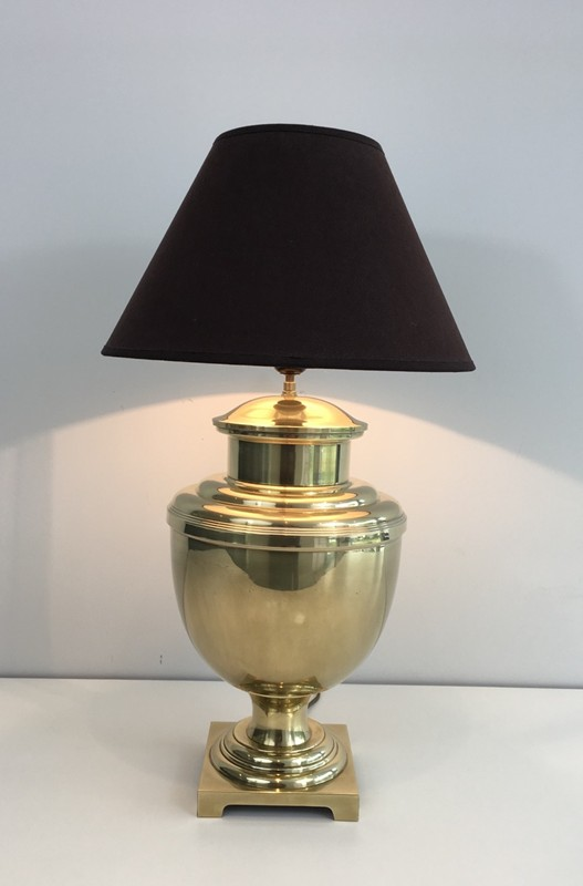 Brass Baluster Table Lamp. Circa 1970 -barrois-antiques-50's-28427-main-636646808906155595.JPG