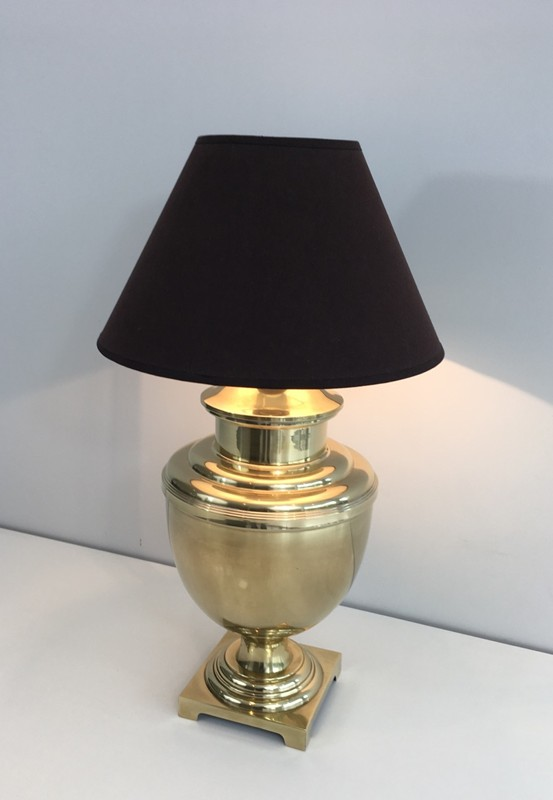 Brass Baluster Table Lamp. Circa 1970 -barrois-antiques-50's-28428-main-636646809009276222.JPG