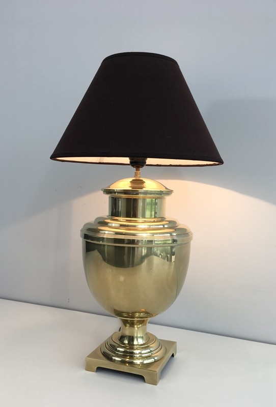 Brass Baluster Table Lamp. Circa 1970 -barrois-antiques-50's-28429-main-636646809108652681.JPG
