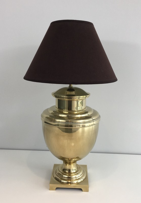Brass Baluster Table Lamp. Circa 1970 -barrois-antiques-50's-28434-main-636646809741885094.JPG