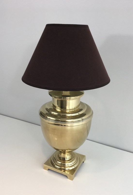 Brass Baluster Table Lamp. Circa 1970 -barrois-antiques-50's-28436-main-636646810633621106.JPG
