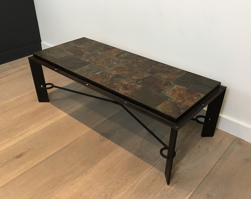 Coffee Table with Lava Stone Top. French. 1940's-barrois-antiques-50's-28624-main-636646852832664984.JPG