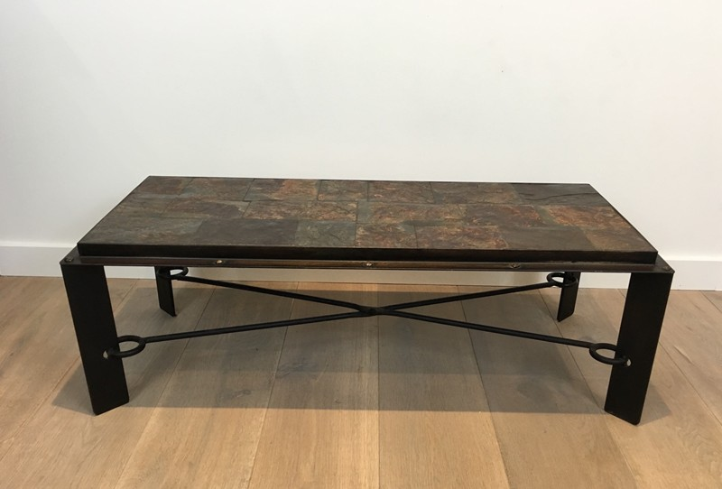 Coffee Table with Lava Stone Top. French. 1940's-barrois-antiques-50's-28625-main-636646852980248552.JPG