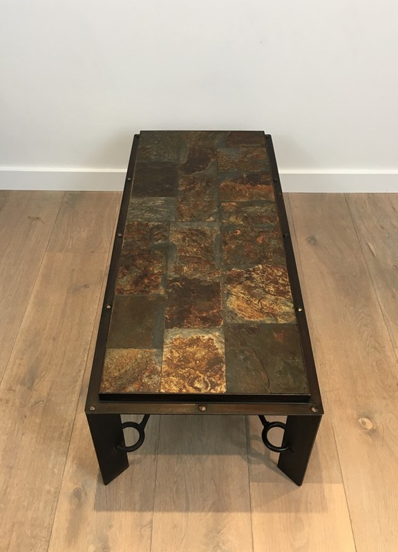Coffee Table with Lava Stone Top. French. 1940's-barrois-antiques-50's-28628-main-636646853578851248.JPG