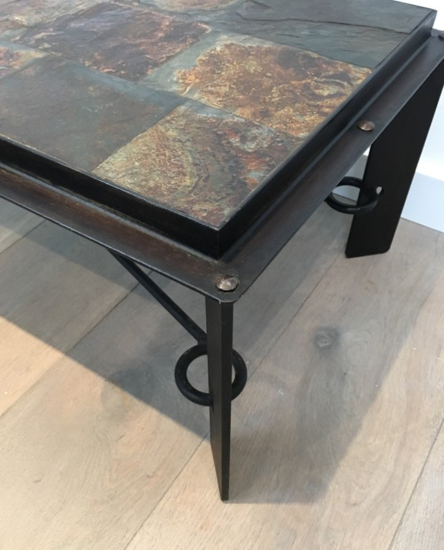 Coffee Table with Lava Stone Top. French. 1940's-barrois-antiques-50's-28631-main-636646854009901352.JPG