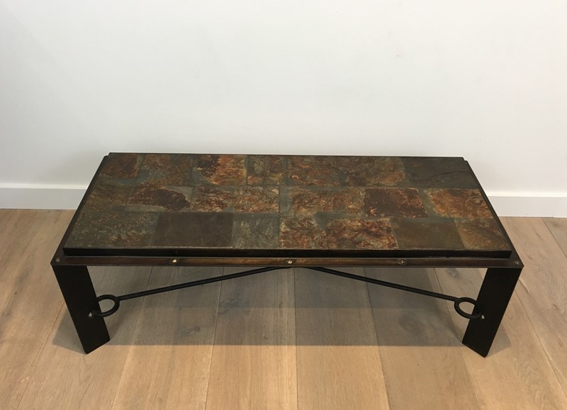 Coffee Table with Lava Stone Top. French. 1940's-barrois-antiques-50's-28639-main-636646854757803704.JPG