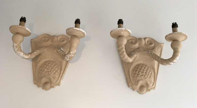 Pair of Plaster Wall Sconces. French.-barrois-antiques-50's-28784-main-636655197866829191.JPG