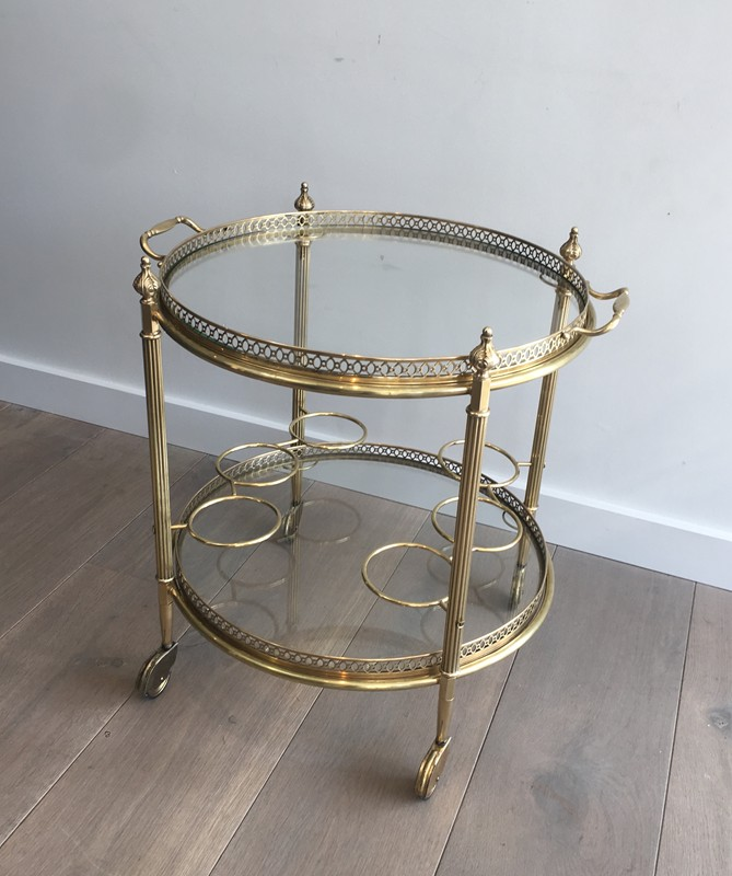 Neoclassical Brass Round Trolley. French-barrois-antiques-50's-28913-main-636662067415628391.JPG