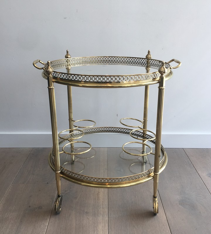Neoclassical Brass Round Trolley. French-barrois-antiques-50's-28915-main-636662067750577567.JPG