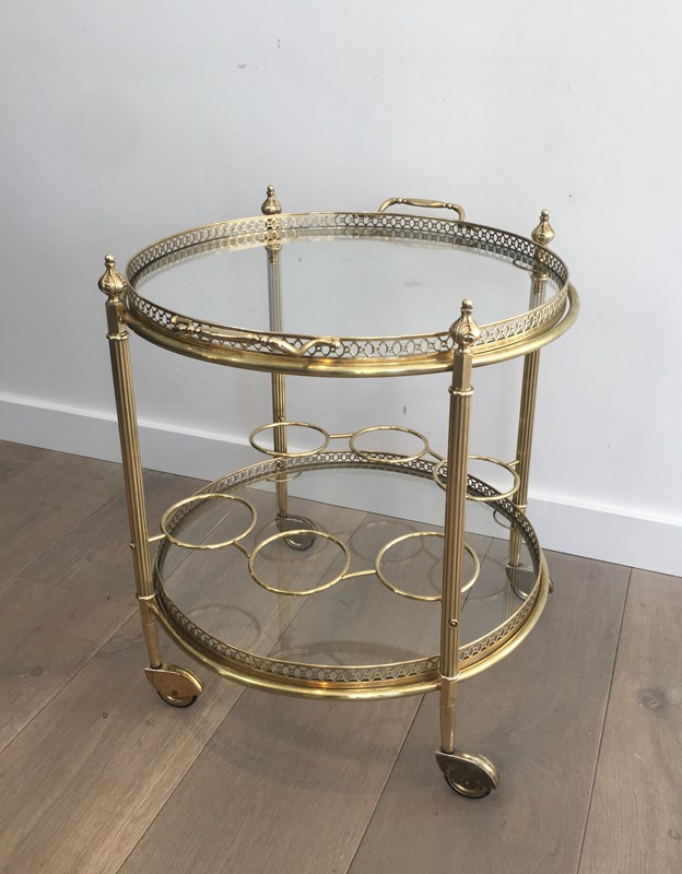 Neoclassical Brass Round Trolley. French-barrois-antiques-50's-28916-main-636662067795975895.JPG