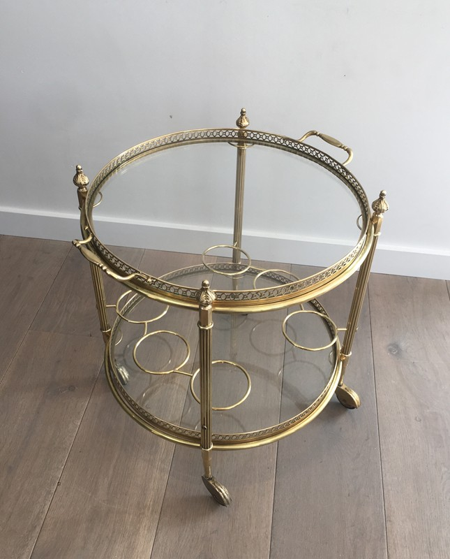 Neoclassical Brass Round Trolley. French-barrois-antiques-50's-28917-main-636662067842622287.JPG