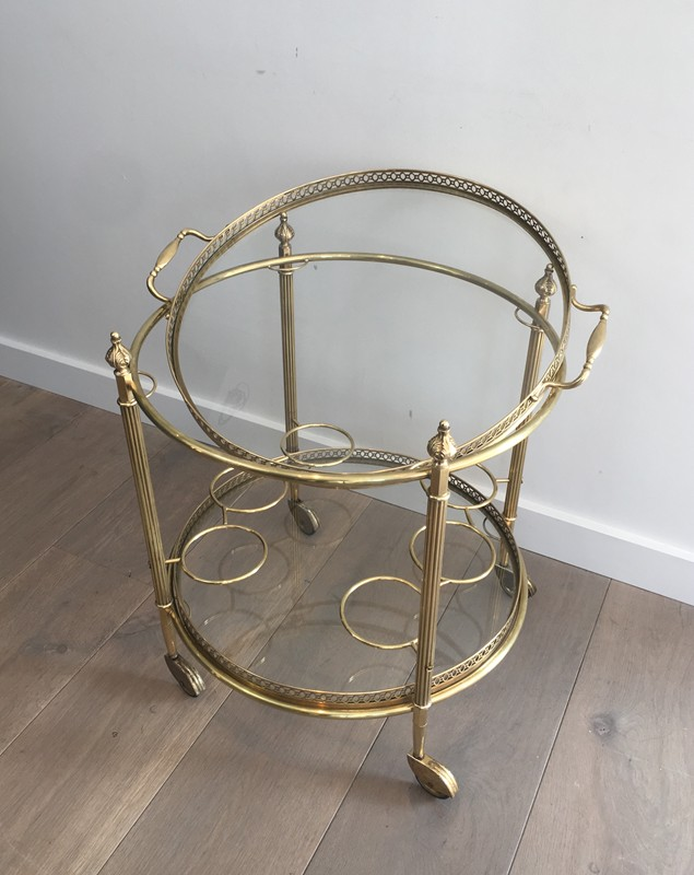 Neoclassical Brass Round Trolley. French-barrois-antiques-50's-28918-main-636662068097851375.JPG