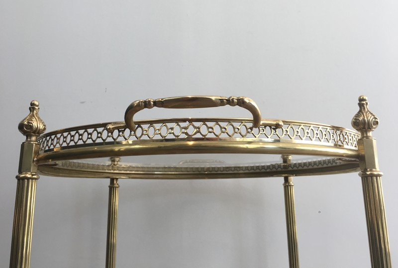 Neoclassical Brass Round Trolley. French-barrois-antiques-50's-28920-main-636662068212205239.JPG