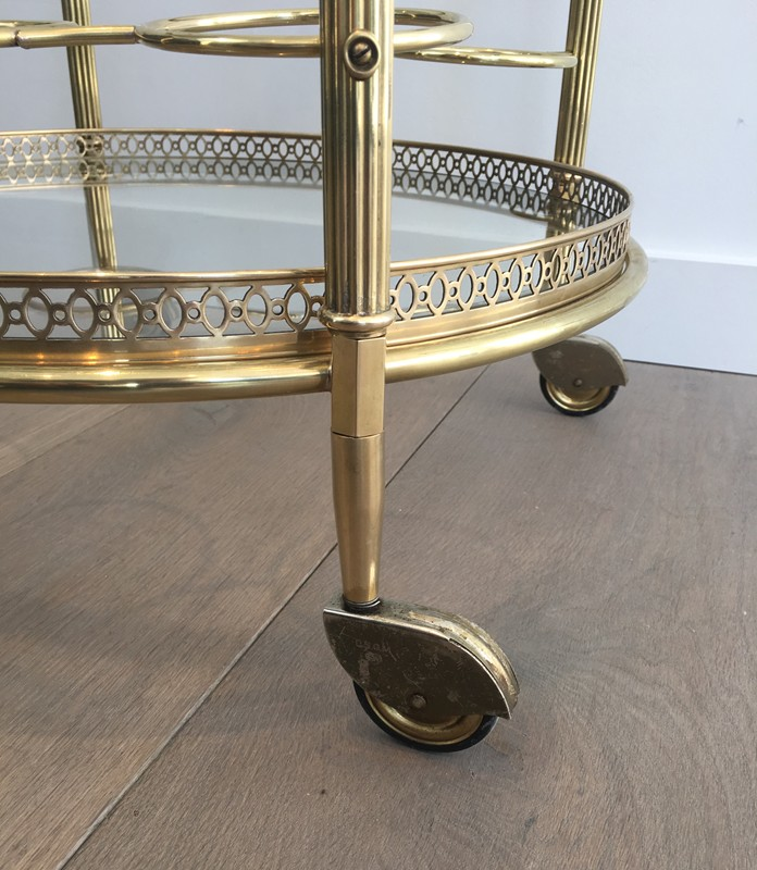 Neoclassical Brass Round Trolley. French-barrois-antiques-50's-28921-main-636662068264311911.JPG