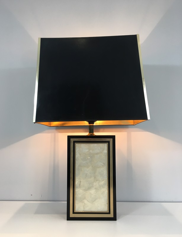 Tall Lacquered Wood Gild and Nacre Table Lamp.-barrois-antiques-50's-28930-main-636662101529269615.JPG