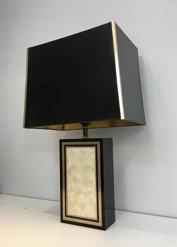 Tall Lacquered Wood Gild and Nacre Table Lamp.-barrois-antiques-50's-28931-main-636662101660784359.JPG
