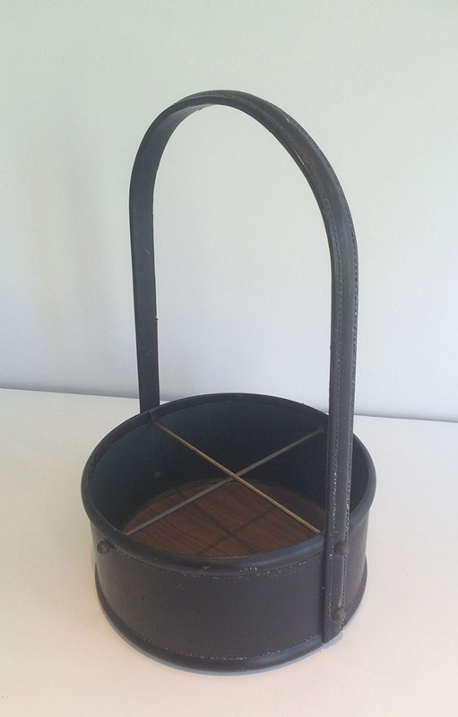 Bottle holder in the style of Jacques Adnet-barrois-antiques-50's-29338-main-636706246762317604.jpg