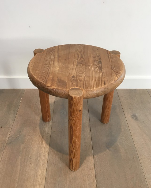 Interesting Pitch-Pine Stool. Circa 1950 -barrois-antiques-50's-29408-main-636674954709099573.JPG