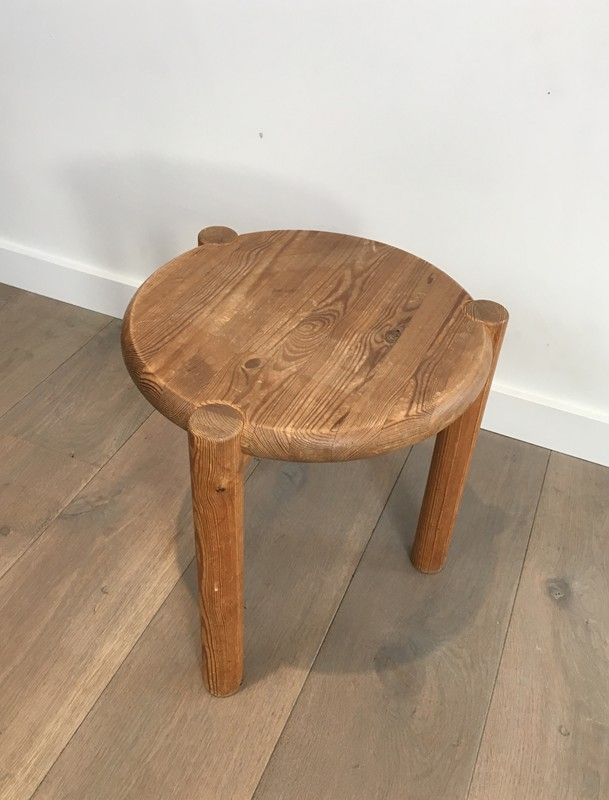 Interesting Pitch-Pine Stool. Circa 1950 -barrois-antiques-50's-29411-main-636674955097247477.JPG