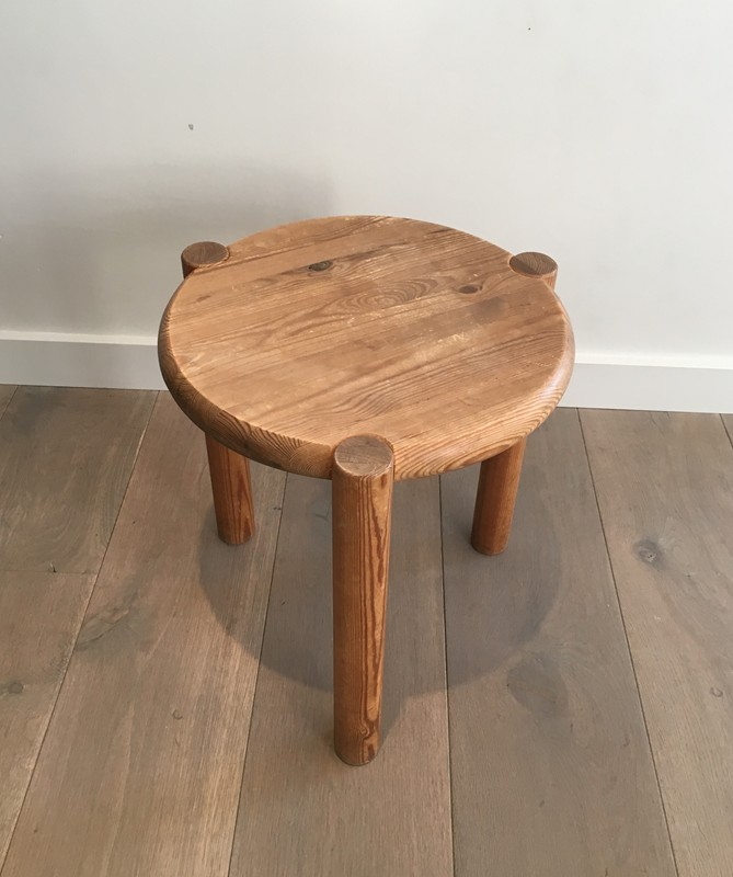 Interesting Pitch-Pine Stool. Circa 1950 -barrois-antiques-50's-29412-main-636674955149042133.JPG