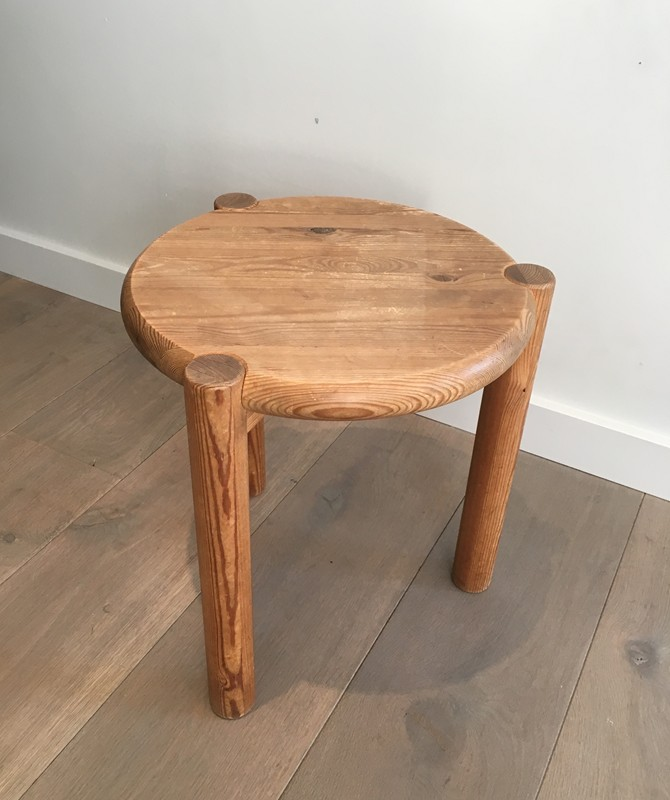 Interesting Pitch-Pine Stool. Circa 1950 -barrois-antiques-50's-29419-main-636674956674956381.JPG