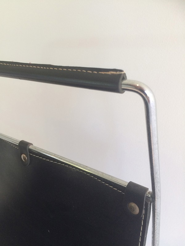 Black Leather and Chrome Magazine rack-barrois-antiques-50's-29426-main-636682152557117047.jpg