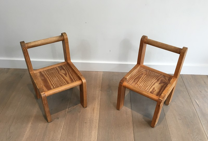 Unusual Small children Chairs. Circa 1970 -barrois-antiques-50's-29474-main-636740739130131065.JPG