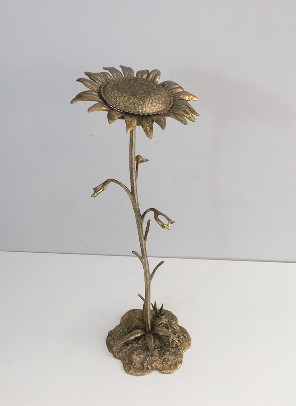 Bronze element Representing a Sunflower-barrois-antiques-50's-30043-main-636764171140092042.JPG