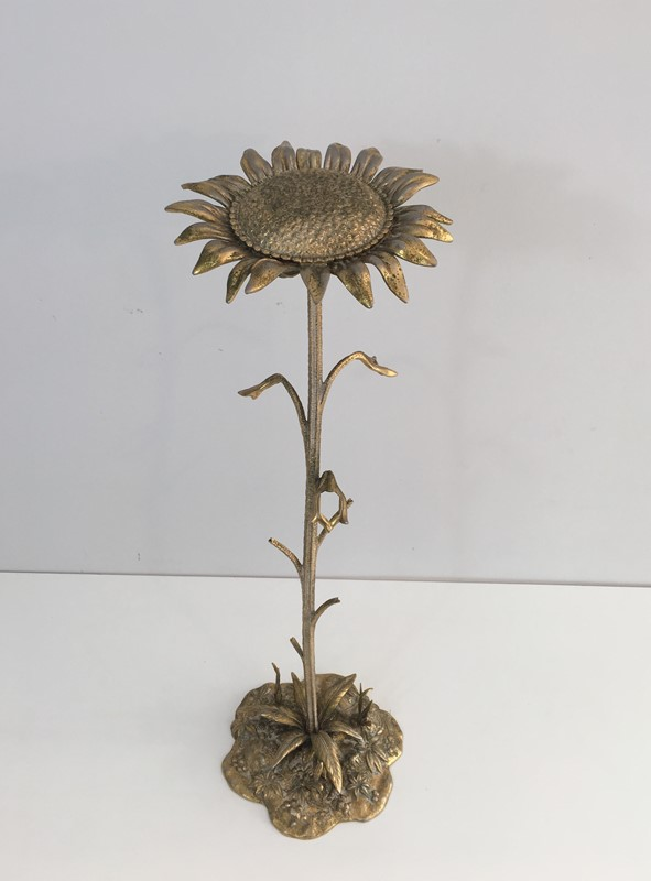 Bronze element Representing a Sunflower-barrois-antiques-50's-30044-main-636764184855707618.JPG