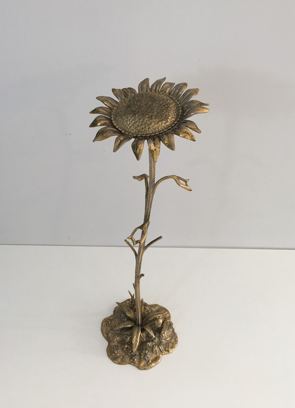 Bronze element Representing a Sunflower-barrois-antiques-50's-30045-main-636764184974778810.JPG