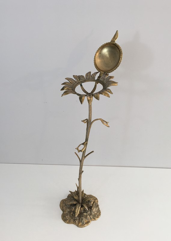 Bronze element Representing a Sunflower-barrois-antiques-50's-30046-main-636764185067895649.JPG